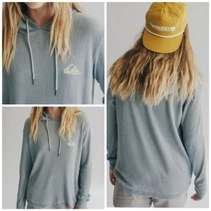NWT Quicksilver Her Hoodie Tee Size Lg Stormy Sea
